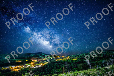 This is double exposure of Brian Head Peak and the Milky Way taken 6/27/13. NOTE: These color night shots look best printed with a metal finish. Sweepstakes Ribbon winner at the Iron County Fair!