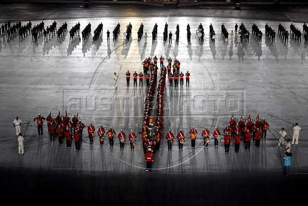 General view of the inauguration ceremony of the 5th. World Military Games at Joao Havelange stadium, Rio de Janeiro, Brazil, July 16, 2011. Competitors from 112 countries will participate during the nine days of competitions. (Austral Foto/Renzo Gostoli)