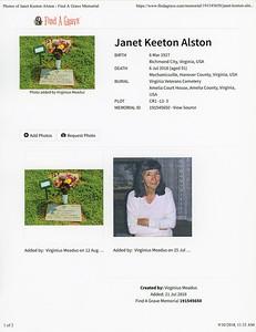 Janet Keeton Alston VAVetCem 001AB