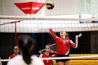 Singapore American School Women team SAW playing against NOB team VAS Series 2 National Championship 2019 24 Aug 2019 at SAS Gym 1 & 5 (Singapore American School). Photo By - Sanketa Anand/Sport Singapore