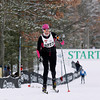 Record-Eagle/Jan-Michael Stump<br /> Amy Kostrzewa (5227) of Northville finishes the 2012 VASA 27k classic Saturday at Timber Ridge.