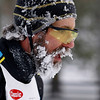 Record-Eagle/Jan-Michael Stump<br /> Karl Trost Sr (5228) of Cheboygan finishes the 2012 VASA 27k with an ice encrusted beard Saturday at Timber Ridge.