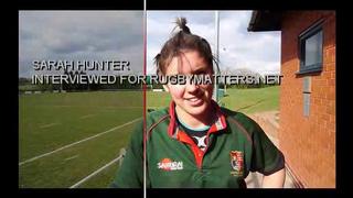 Sarah Hunter Talking to rugbymatters.net
