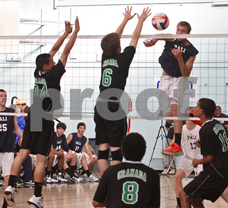 Alex Frapech gets spike past Granada's #6 Sean Greene