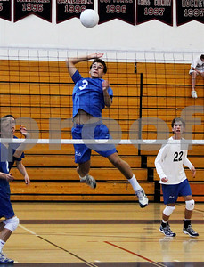 First Team All City, Los Angeles, outside hitter Jordan Cohen goes up for the kill shot