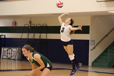 McNeil's Mallory Davidson serves against Vista Ridge.