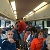 Bulldog Nation on the rooters bus for the trip to San Jose.