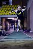 Compétition régionale d'athlétisme (Montréal)<br /> le 14 novembre,  2010<br /> le saut en longueur, Colibri, Caroline
