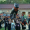 "Dog carriers bringing ""Big Black"" into the stadium"