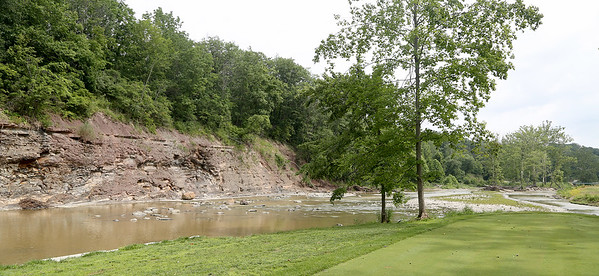 One of the signature holes at Valley of the Eagles in Elyria. BRUCE BISHOP / CHRONICLE