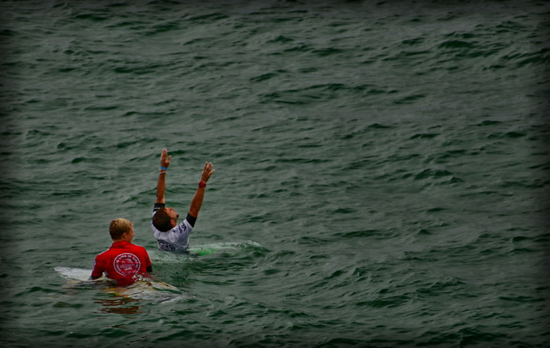 Muniz & Andino Learn winner Van US Oen Pro Surfing