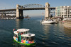 Monday was our only sunny day in Vancouver, so we decided some photography was in order.  We went off to Granville Island via the Mini-Cooper of ferries you see here.