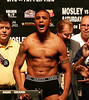 """Ferocious"" Fernando Vargas weighs in at 154 pounds the day before he and ""Sugar"" Shane Mosley will once again meet to settle the score in this Junior Middleweight event at the MGM Grand Garden Arena in Las Vegas, Nevada on July 15, 2006."