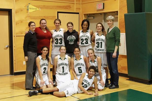 Varsity Girls Basketball Feb 22, 2011