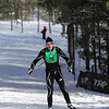 Record-Eagle/Keith King <br /> Jeff Koch, of Traverse City , finishes first in the 50 km freestyle mens division Saturday, February 12, 2011 during the North American Vasa at Timber Ridge Resort.