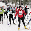 Record-Eagle/Keith King <br /> Skiers race Saturday, February 12, 2011 during the North American Vasa at Timber Ridge Resort.
