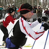 Record-Eagle/Keith King <br /> Spectators cheer as racers ski past Saturday, February 12, 2011 during the North American Vasa at Timber Ridge Resort.