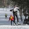 Record-Eagle/Keith King <br /> Andrew Nadler, of Illinois, finishes first in the 27 km freestyle mens division Saturday, February 12, 2011 during the North American Vasa at Timber Ridge Resort.