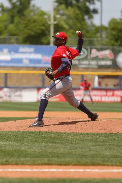 Mississippi Braves starting pitcher Victor Mateo