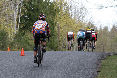 Cory (lead A) has almost lapped B chase group