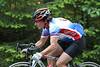 Peg Labiuk (Maas) rides up to watch