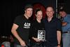 Geoff and Marty present Women's Winner Shailie Sanbrooks (Russ Hays) (2.Shannon Baerg, Russ Hays; 3.Nik Vogler, Westwood Cycle)