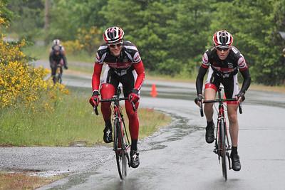 Curtis and Dylan establishing winning breakaway (Steve and Raph establish 2 man chase behind)