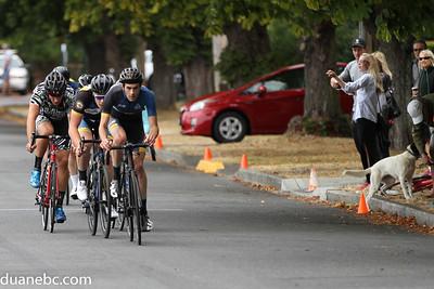 Six man lead group (Eugene finally caught)