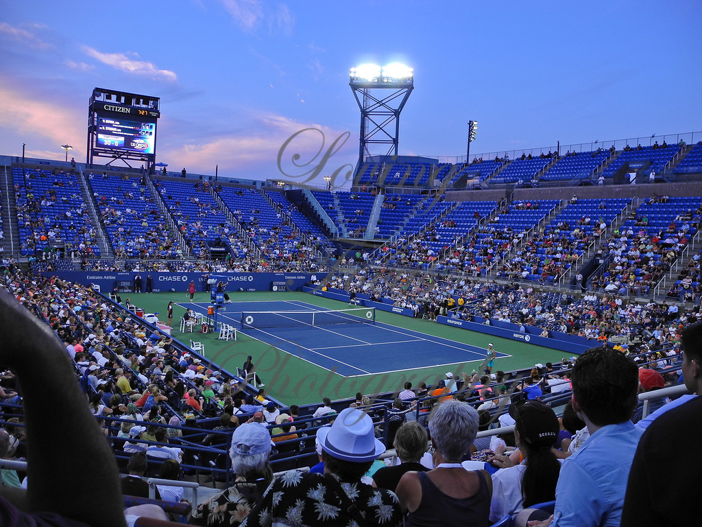 """Tennis History .... maybe I witnessed a piece.  On Tues. Aug. 27 -- Chuck and I got our """"ground passes"""" and found a good spot here in the Louie A. stadium to watch the days proceedings.  I had been looking forward to seeing my personal favorite play, Sam Stosur (#11)."""