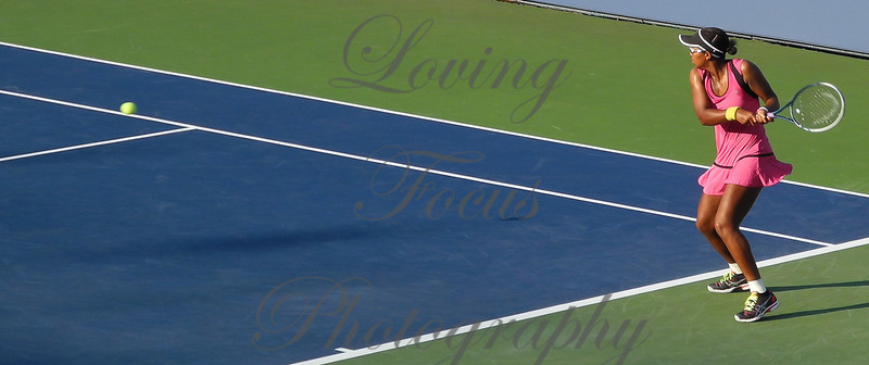 Setting up in time to direct the ball with incredible accuracy to the corners of Stosur's side of the court.