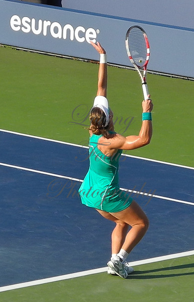 Sam's serve is one of the best in women's tennis ... creating a catapult action in her strong legs ...