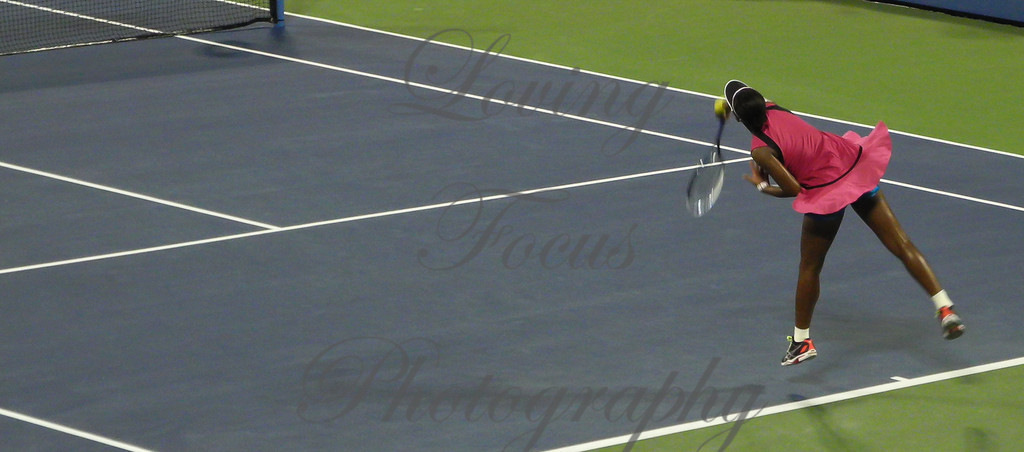 And when Victoria served her last and winning point .... the crowd came unglued .. and so did she with her joy.