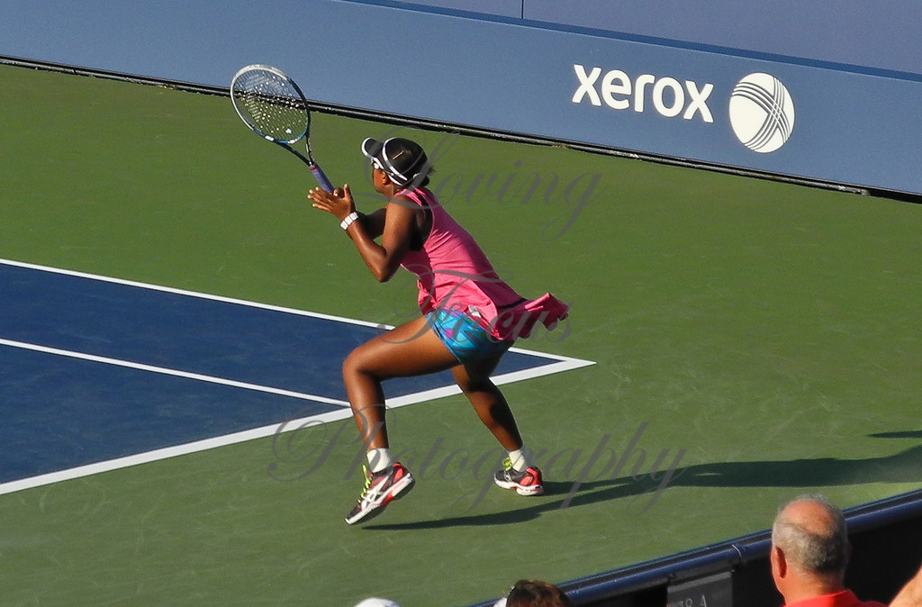Victoria was moving like greased lightning, anticipating the Stosur play.
