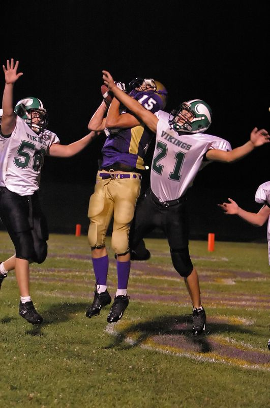 Pecatonica TD in Vikings end zone, 32-8 Pecatonica