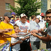 Vikings kicker Blair Walsh signs autographs for fans after arriving in Mankato on Thursday for the Vikings preseasaon training camp at Minnesota State University, Mankato. Photo by John Cross