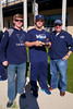 Matt Bell, Villanova '12 and team captain, with #45 Tom Croonquist, sophomore middie, and Tom 's father, Tom Croonquist.