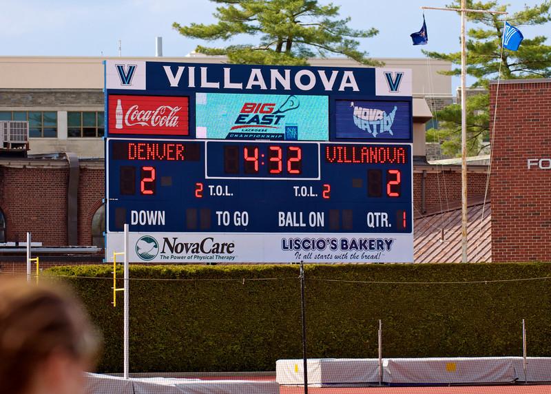 Villanova vs Denver 14-7 BigEast Final May 3 2014 @ Nova   79129
