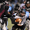 "Cameron Cadora (9) left, and Nathan Dunlavy, both of Silver Creek, tackle QB Thomas Newman of Vista Ridge.<br /> For more photos of the game, go to  <a href=""http://www.dailycamera.com"">http://www.dailycamera.com</a>.<br /> Cliff Grassmick / November 19, 2010"