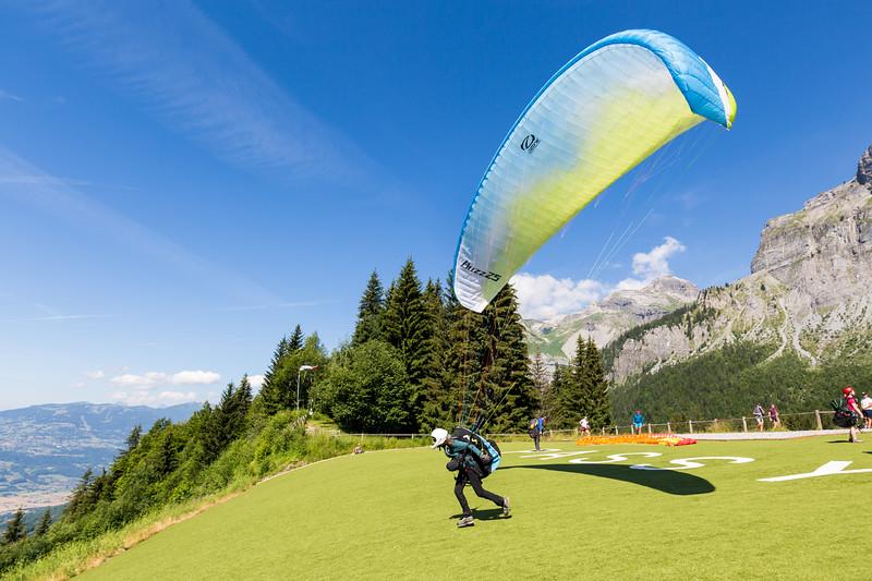 Vol libre, Plaine Joux, Passy Mont Blanc