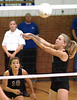 Jennifer Lewis, #5, hits shot for Gate City while Emily Clark, #10, backs-up the play. Photo by Ned Jilton II