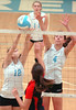 #12 and #4 for South go up for block with #12 blocking the shot of Daniel Boone's #4. Photo by Ned Jilton II