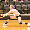 Star Photo/Larry N. Souders<br /> Elizabethton's Deanna Hull (2) digs for a return of a shot from the Lady Hilltoppers.