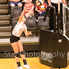 Star Photo/Larry N. Souders<br /> Elizabethton's Sydney Goodsell (32) attacks the net spiking a kill shot against Science Hill.