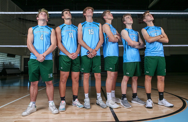 Ransom Everglades Boys' Volleyball. Team Photo Shoot