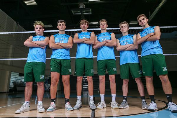 Ransom Everglades Boys' Volleyball. Team Photo Shoot