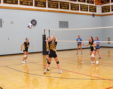 JV volleyball match EHS vs. MMU.