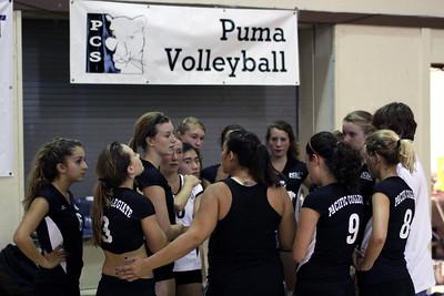 2009-09-10 Girl's Highschool Volleyball - York at PCS