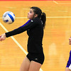 Record-Eagle/Jan-Michael Stump<br /> Leland's Noa Yaakoby (7) bumps the ball in Monday's win over Forest Area.