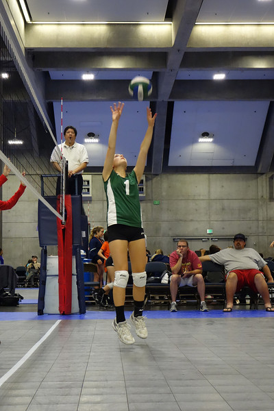 Katie is the setter...