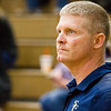 Record-Eagle/Brett A. Sommers Traverse City St. Francis coach Mark Witczak watches Tuesday's regional semifinal volleyball game against Rogers City in Gaylord. St. Francis won 3-1.